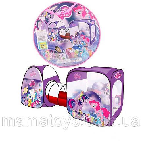 Детская палатка с тоннелем M 3777 (8015) Пони My Little Pony 270-92-92 см