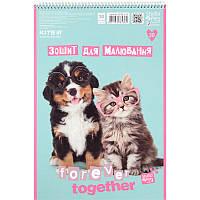 Альбом для рисования 30 л, A4, спираль, KITE / Studio Pets - Вместе навсегда 3