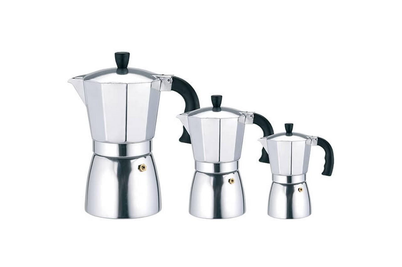 Кофеварка гейзерная алюминиевая Rainbow - 150 мл MR-1667-3