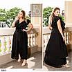 Платье романтичное на запах  коттон 48-50,52-54,56-58,60-62,64-66, фото 2