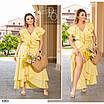 Платье романтичное на запах  коттон 48-50,52-54,56-58,60-62,64-66, фото 5