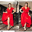 Платье романтичное на запах  коттон 48-50,52-54,56-58,60-62,64-66, фото 6