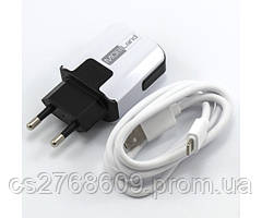 """Мережевий зарядний пристрій+USB cable """"Mobiland"""" fast charge (iphone 5/6)"""