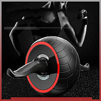 Ролик (валик) для пресса с возвратным механизмом Фитнес колесо, Ролик для пресса тренажер-колесо