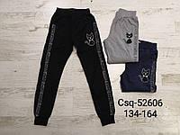 Спортивные брюки для девочек оптом, Seagull, 134-164 рр.