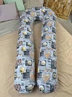 Подушка для беременных обнимашка U образная подкова С наволочкой RadiVsi Good Gift 100% Хлопок XXL 150x75