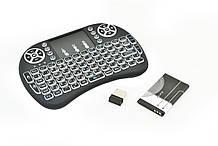 Бездротова клавіатура російська з підсвічуванням Rii mini i8 2.4 G Чорний (R0091)