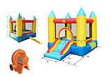 Детский надувной игровой центр батут Happy Hop 4 карандаша с насосом Разноцветный (bat_9314), фото 2