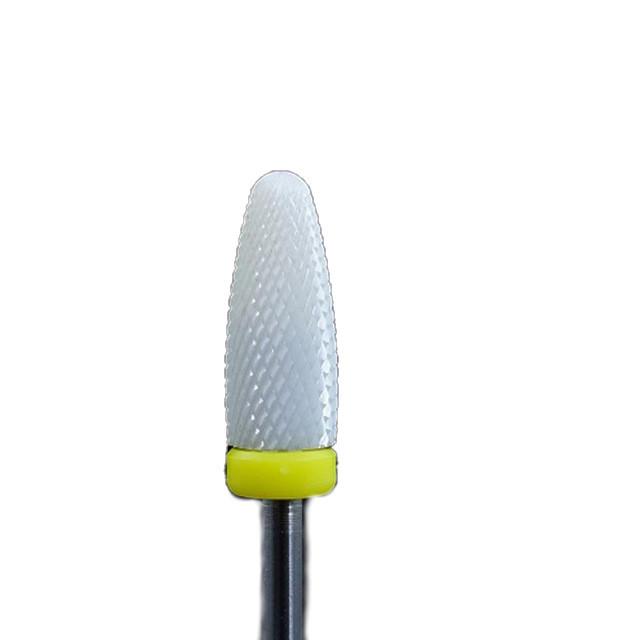 Насадка керамическая пламя желтая, средняя, для левой руки, Flame bit, left hand