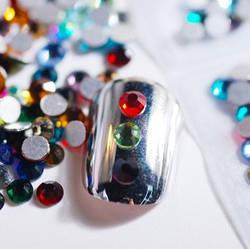 Стрази Swarovski Crystals кольорові, камінь, скло, кристал, різнокольорові, SS3