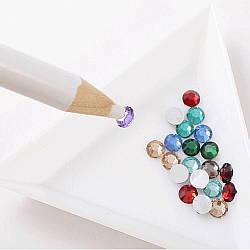 Олівець для страз, восковий олівець для захоплення страз, дрібних декорів, прикрас, білий
