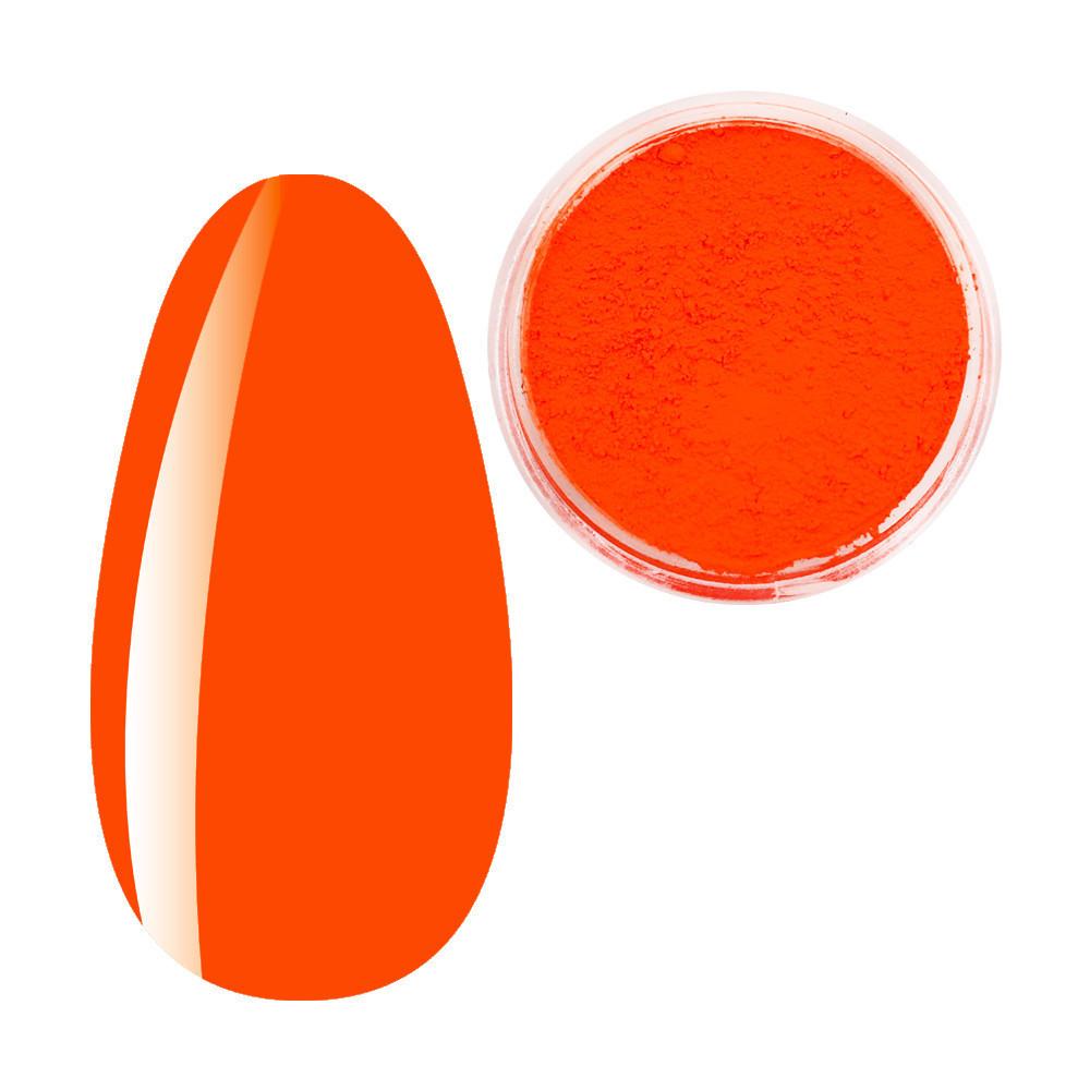 Пигмент Красно-Оранжевый неон, Яркие неоновые пигменты, неоновая втирка, для дизайна ногтей, баночка
