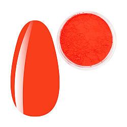 Пігмент Червоний неон, Яскраві неонові пігменти, неонова втирка, для дизайну нігтів, баночка