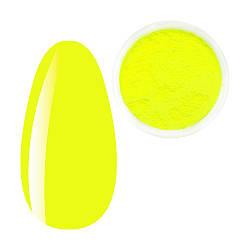 Пігмент Лимонний неон, яскраво-жовтий, Яскраві неонові пігменти, неонова втирка, для дизайну нігтів, баночка