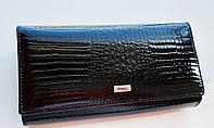 Жіночий шкіряний гаманець Balisa 153-581-1 чорний Жіночий шкіряний гаманець на магніті з візитницею, фото 1
