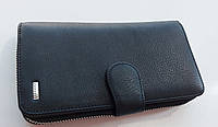 Женский кожаный кошелек Balisa 3-925 черный кожаный кошелек с визитницей на магните, фото 1