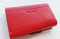 Женский кожаный кошелек Balisa PY-H143 красный маленький кожаный кошелек на магните, фото 1