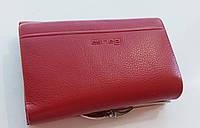 Жіночий шкіряний гаманець Balisa PY-H143 т. червоний маленький шкіряний гаманець на магніті, фото 1
