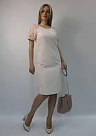 Нарядное коктейльное платье-футляр пудровое светло-розовое ЛЮКС-качество вечернее, на свадьбу и выпускной
