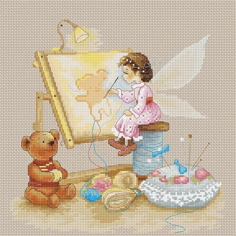 Наборы для вышивания крестом Luca S Детское Фея