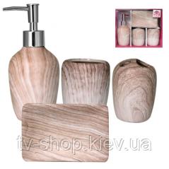 Набор аксессуаров для ванной комнаты Бук, 4 пр