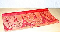 Красная органза для упаковки цветов и подарков PARIS