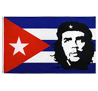 Флаг Кубы с Че Геварой 90х150см