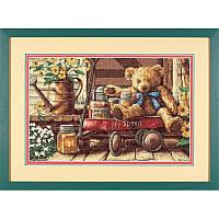 Набор для вышивания DIMENSIONS «Honey Bear • Медовый мишка» 13693