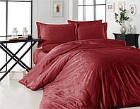 Комплект постельного белья сатин жаккард First Choice Trudy Kırmızı (постельное белье евро) Турция