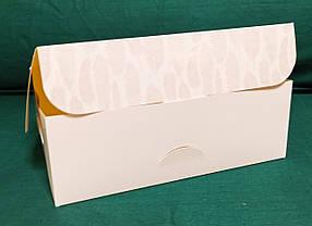 Коробка подарочная, белая с перышками, фото 3