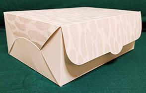 Коробка подарочная, белая с перышками, фото 2