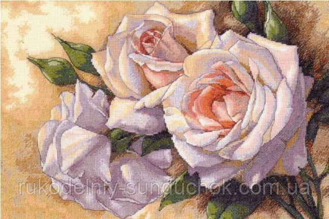 Набор для вышивания DIMENSIONS «White Roses • Белые Розы» 35247