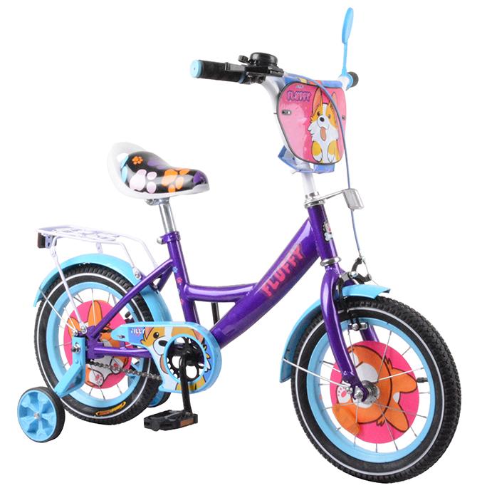 "Велосипед TILLY Fluffy 14 T-214213 purple + l.blue /1/"""