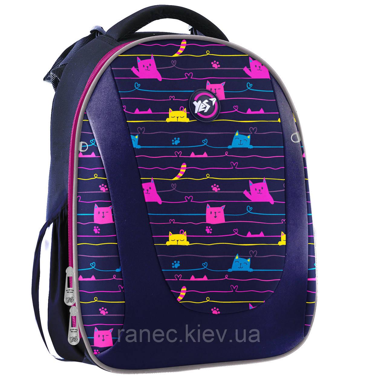 Рюкзак школьный каркасный YES H-28 Cats  558040