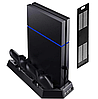 Подставка-зарядка + кулер  для джойстиков PS4 SLIM