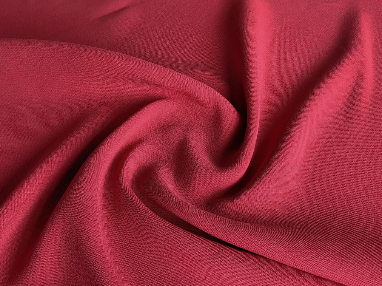 Ткань Дабл креп, красный коралл