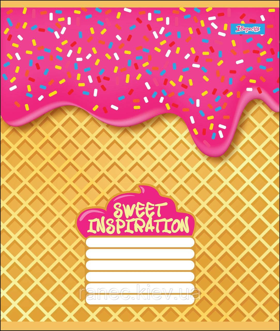 Тетрадь 48 листов клетка А5 набор 10 шт. в упаковке 1 Вересня SWEET INSPIRATION  764623