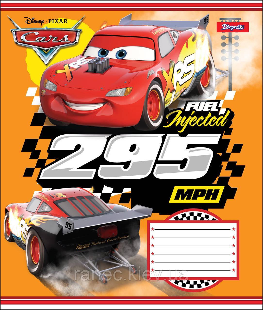 Тетрадь 12 листов клетка А5 набор 25 шт. в упаковке 1 Вересня CARS RACE   764461