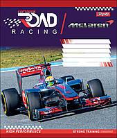 Тетрадь 18 листов линия А5 набор 25 шт. в упаковке 1 Вересня ROAD RACING   764554, фото 1