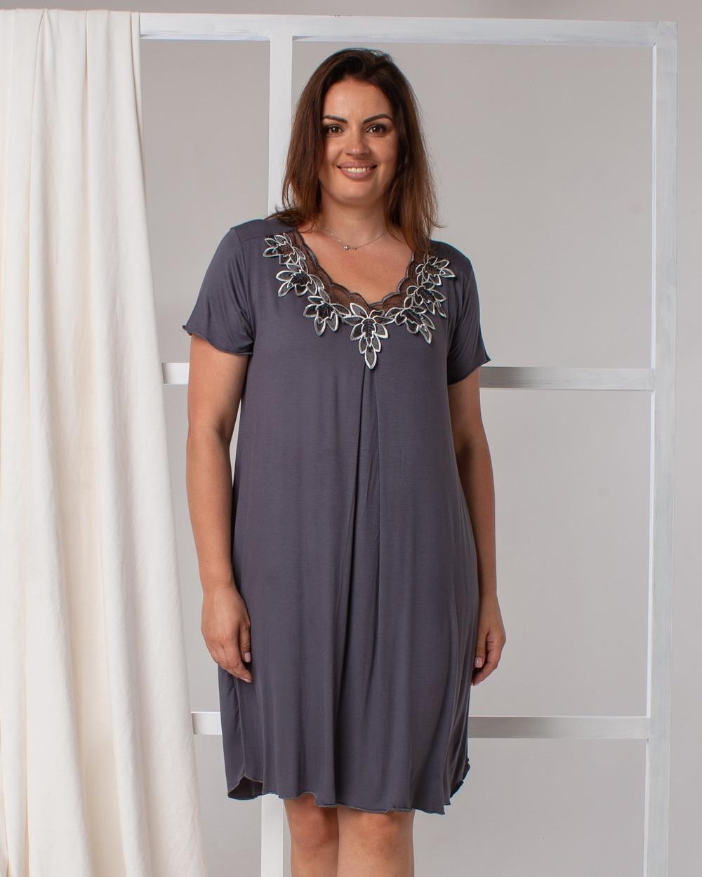 Сорочка для сна  с  кружевом Nicoletta 70001