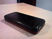 Декоративная защитная пленка для телефона Nokia 5530 аллигатор черный, фото 1