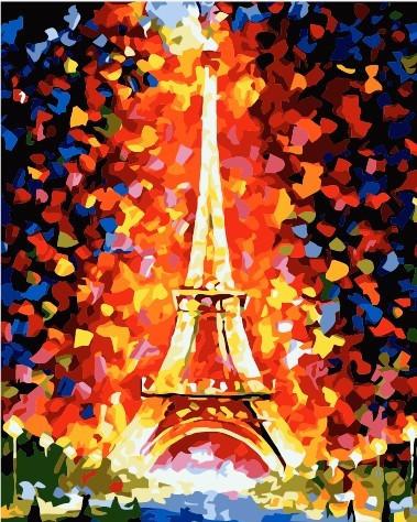Картина по номерам 40×50 см. Babylon Эйфелева башня (MS328)
