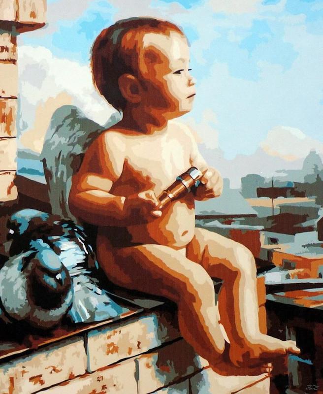 Картина по номерам 40×50 см. Babylon Амурчик Художник - Грошев Слава (SW049)