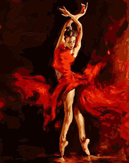 Картина по номерам 40×50 см. Babylon Танец огня Художник Атрошенко Андрей (SW009)