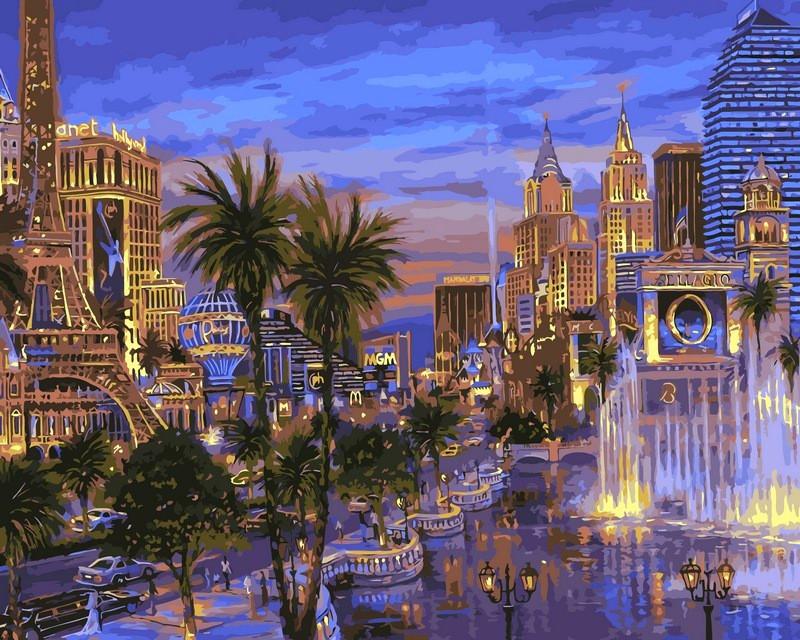Картина по номерам 40×50 см. Babylon Вечер в Вегасе Художник Роберт Файнэл (VP-036)