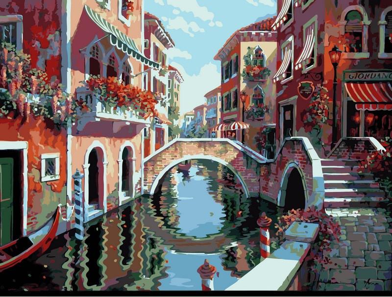 Картина по номерам 40×50 см. Babylon Полдень в Венеции Художник Боб Пейман (VP-264)