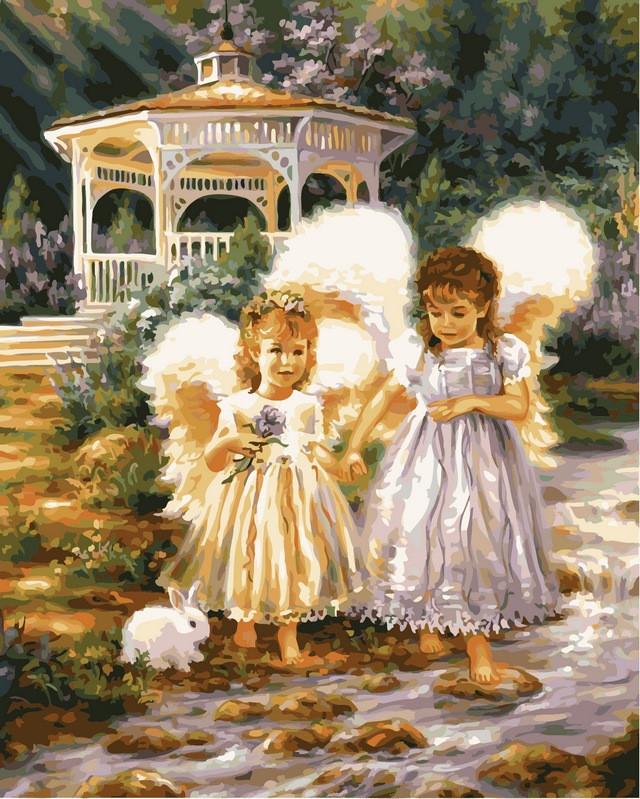 Картина по номерам 40×50 см. Babylon Маленькие ангелы Художник Гелсингер Дона (VP-386)
