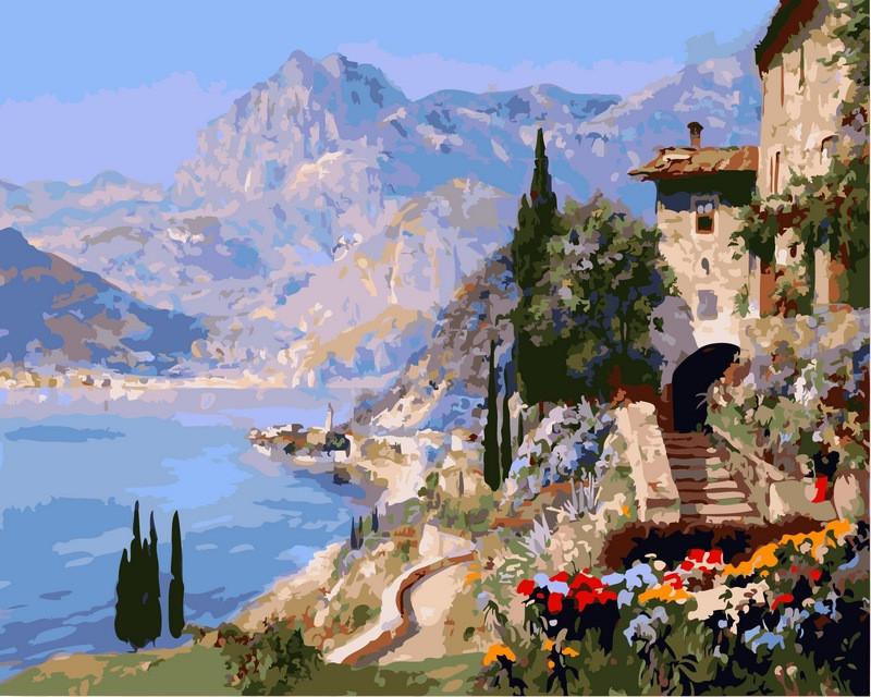 Картина по номерам 40×50 см. Babylon Средиземноморский пейзаж Художник Алоис Арнеггер (VP-394)