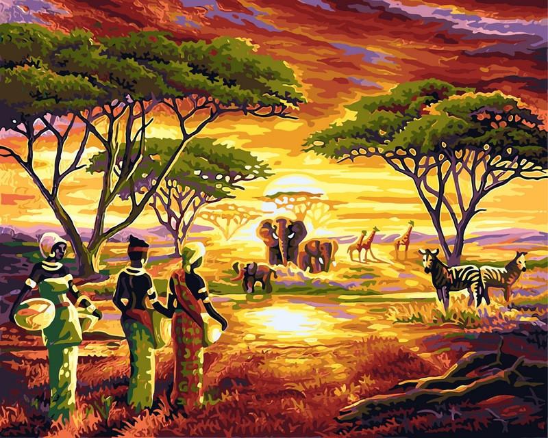 Картина по номерам 40×50 см. Babylon Африка (VP-417)