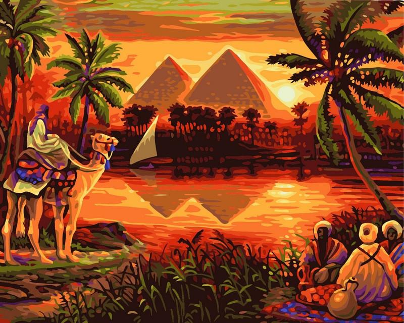Картина по номерам 40×50 см. Babylon Пирамиды (VP-420)